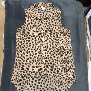 Guess leopard print hi/low light tank top❤️EUC⭐️